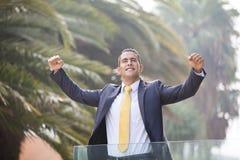 Homem de negócios novo bem sucedido Fotografia de Stock