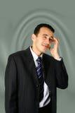 Homem de negócios novo confundido Imagens de Stock Royalty Free