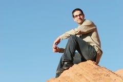 Homem de negócios novo considerável fotografia de stock royalty free