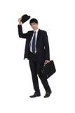 Homem de negócios novo esperto foto de stock