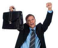 Homem de negócios novo feliz fotos de stock