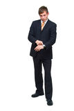 Homem de negócios novo irritado Fotos de Stock
