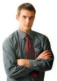 Homem de negócios novo, isolado Imagens de Stock