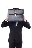Homem de negócios novo isolado Fotos de Stock Royalty Free