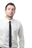 Homem de negócios novo isolado no branco Imagens de Stock