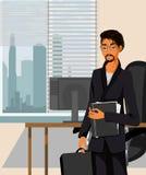 Homem de negócios novo no escritório Imagens de Stock