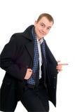 Homem de negócios novo no passeio do revestimento Imagem de Stock