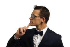 Homem de negócios novo no terno foto de stock royalty free