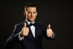 Homem de negócios novo no terno fotos de stock royalty free