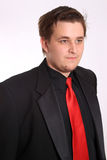 Homem de negócios novo no terno formal preto Fotografia de Stock