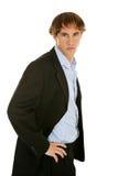 Homem de negócios novo sério Fotografia de Stock