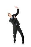 Homem de negócios novo Scared fotografia de stock royalty free