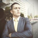 Homem de negócios novo seguro Foto de Stock