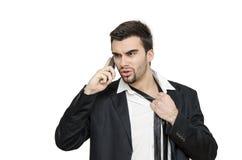 Homem de negócios novo sob o esforço Imagens de Stock