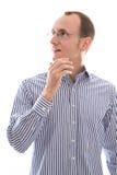 Homem de negócios novo surpreendido Foto de Stock