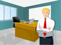 Homem de negócios In o espaço de trabalho Ilustração Stock