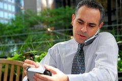 Homem de negócios ocupado Foto de Stock