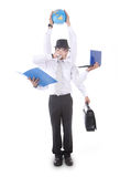Homem de negócios ocupado Imagem de Stock