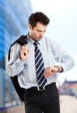 Homem de negócios ocupado Fotos de Stock