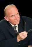 Homem de negócios olhando fixamente Imagens de Stock Royalty Free