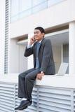 Homem de negócios optimista Fotos de Stock Royalty Free