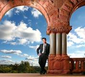 Homem de negócios ou estudante asiático considerável ao ar livre Fotografia de Stock Royalty Free