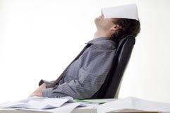 Homem de negócios Overworked Fotografia de Stock Royalty Free