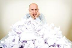 Homem de negócios Overworked Foto de Stock