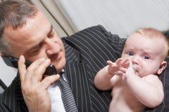 Homem de negócios - pai Imagem de Stock Royalty Free