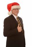 Homem de negócios Papai Noel Fotos de Stock Royalty Free