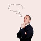 Homem de negócios pensativo Foto de Stock Royalty Free