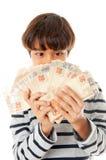 Homem de negócios pequeno Fotografia de Stock Royalty Free