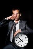 Homem de negócios perfurado fotografia de stock royalty free