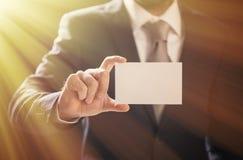 Homem de negócios Pick Business Card Imagens de Stock
