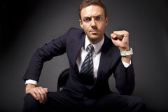 Homem de negócios poderoso imagem de stock