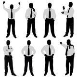 Homem de negócios (posições diferentes) Imagem de Stock Royalty Free