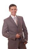 Homem de negócios positivo Fotos de Stock Royalty Free