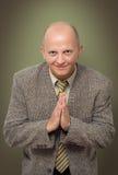 Homem de negócios Praying foto de stock royalty free