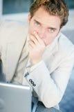 Homem de negócios preocupado Imagens de Stock
