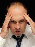 Homem de negócios preocupado Fotografia de Stock Royalty Free