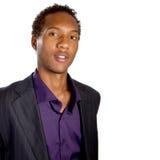 Homem de negócios preto novo Fotografia de Stock Royalty Free