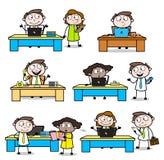 Homem de negócios profissional dos vários desenhos animados da conversação do escritório ilustração royalty free