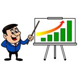 Homem de negócios Profit Gain Presentation ilustração royalty free