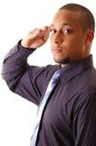Homem de negócios pronto foto de stock