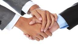 Homem de negócios que agita as mãos Imagem de Stock