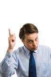 Homem de negócios que aponta acima Imagens de Stock