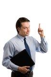 Homem de negócios que aponta acima Fotos de Stock Royalty Free