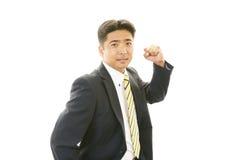 Homem de negócios que aprecia o sucesso Fotografia de Stock Royalty Free