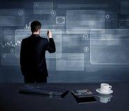 Homem de negócios que apresenta a estratégia na reunião Foto de Stock Royalty Free