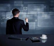 Homem de negócios que apresenta a estratégia na reunião Imagem de Stock